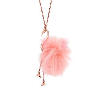 Kate Spade By The Pool Flamingo Necklace